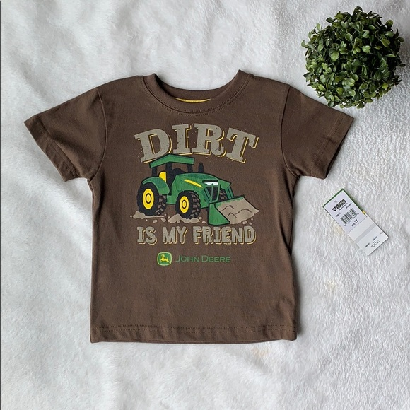 63fcf61a John Deere Shirts & Tops | Toddler Boys Brown Tractor Tshirt | Poshmark